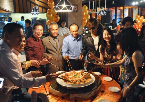 sanoook thai japanese fusion sunway pyramid west hotel tossing ceremony