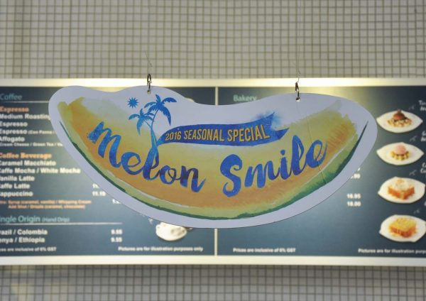 seasonal special menu melon smile caffe bene malaysia