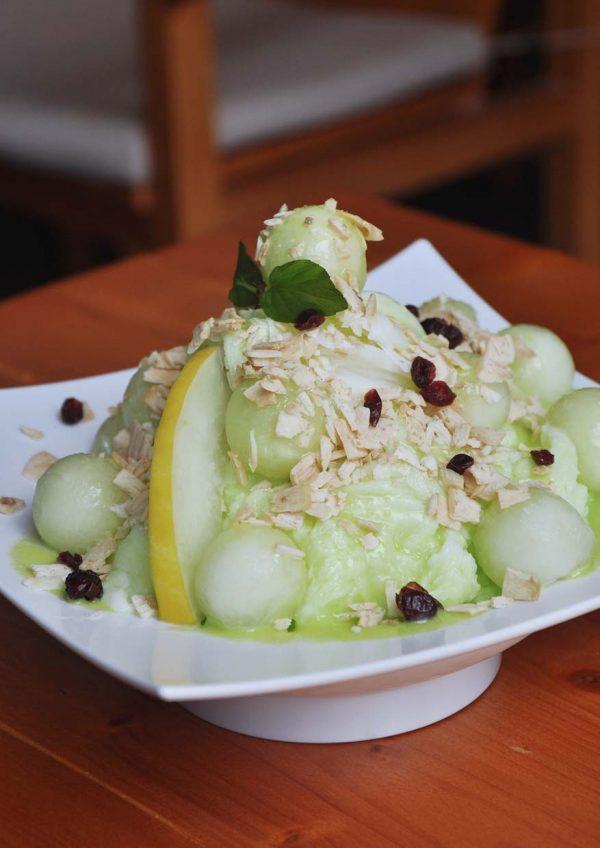 seasonal special menu melon smile caffe bene malaysia melon snowflake