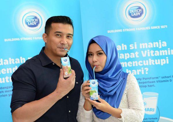 7 days dutch lady purefarm milk and breakfast challenge aaron aziz diyana halik