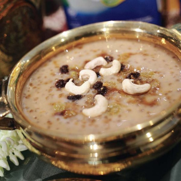 fernleaf milk malaysia payasam dessert deepavali gula melaka