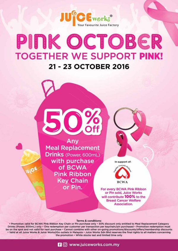 juice works malaysia breast cancer awareness pink october