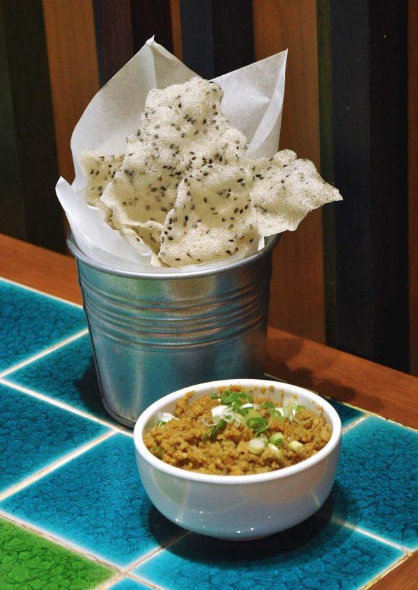pho street vietnamese food paradigm mall petaling jaya sesame rice crackers