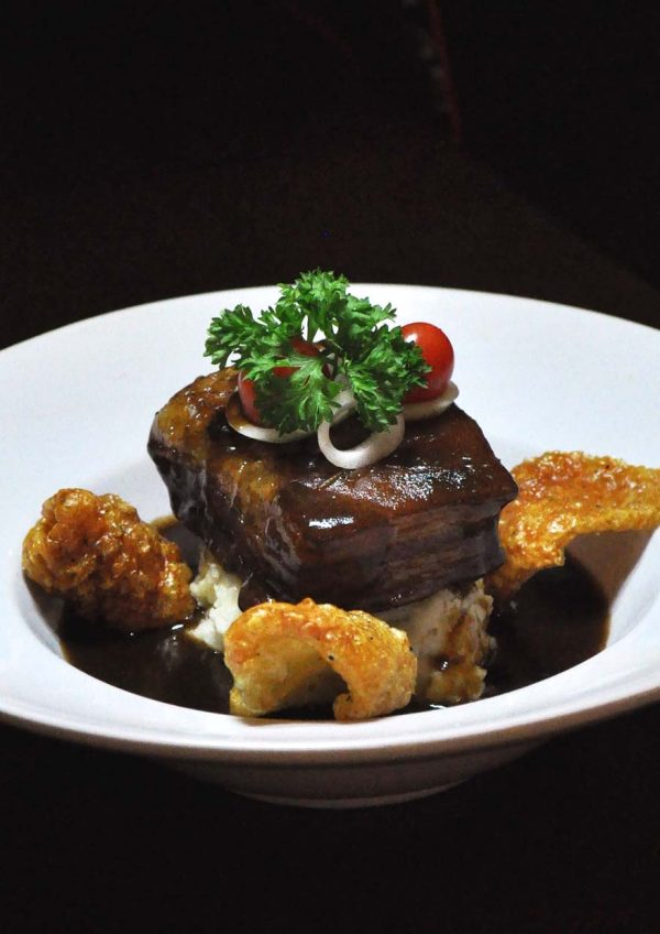 the bbp bandar utama the connor's experience by connor's stout porter braised pork belly