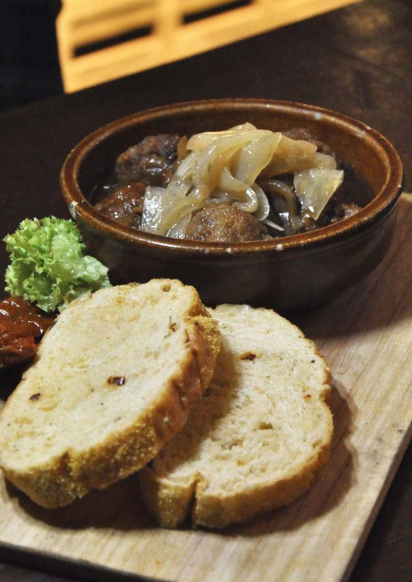the bbp bandar utama the connor's experience by connor's stout porter meat ball