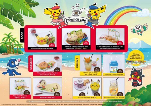 1st pokemon cafe malaysia aeon mid valley kuala lumpur menu