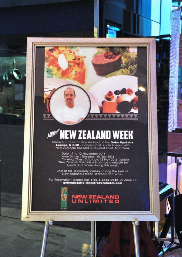 New Zealand Week @ Gobo Upstairs Lounge & Grill, Traders Hotel KL