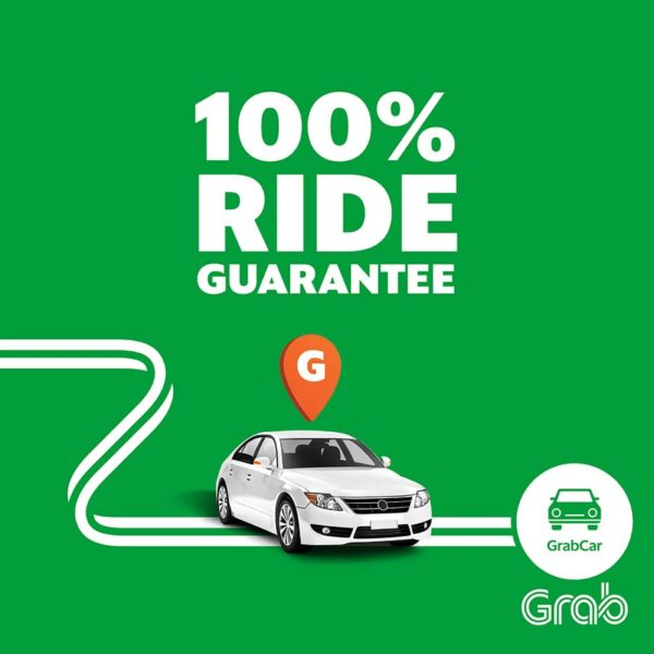 Grab's 100% Ride Guarantee, or the next ride is free!