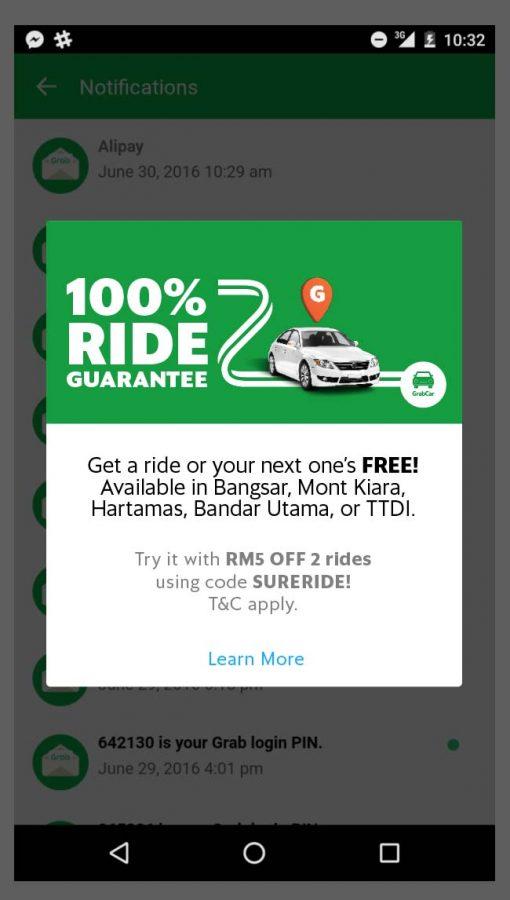 grab ride-hailing platform southeast asia 100% ride guarantee
