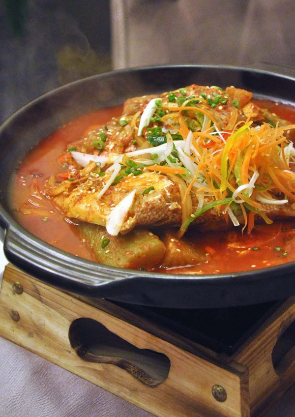 mazzo publika korean japanese italian fusion boiled red snapper