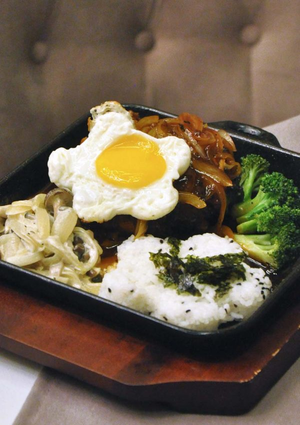 mazzo publika korean japanese italian fusion hamburger steak