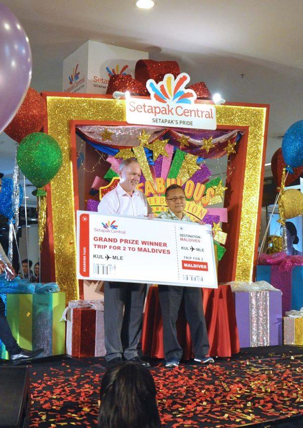 setapak central 1 fabulous celebration first anniversary grand prize maldives