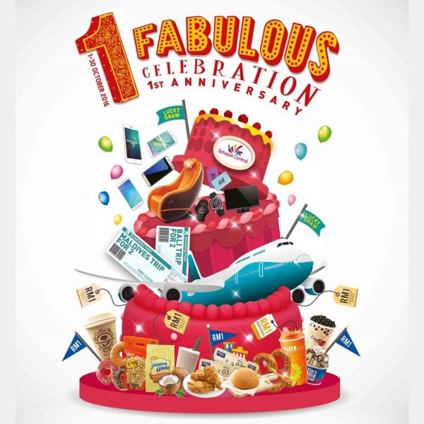 setapak central 1 fabulous celebration first anniversary poster