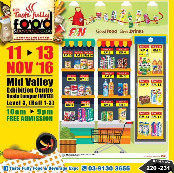 taste fully food and beverage expo mid valley kl november 2016 f&n