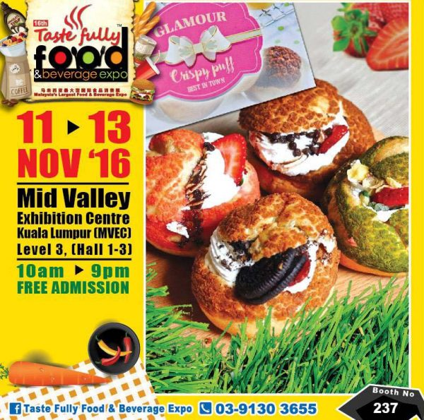 taste fully food and beverage expo mid valley kl november 2016 glamour crispy puff