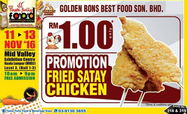 taste fully food and beverage expo mid valley kl november 2016 golden bons
