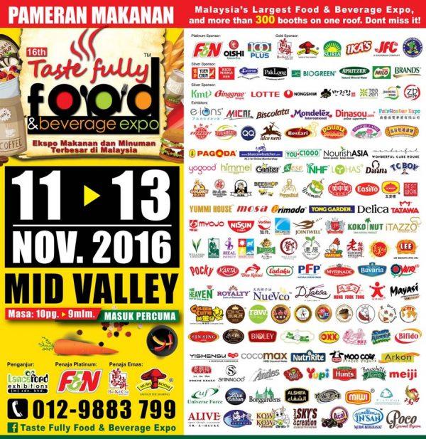taste fully food and beverage expo mid valley kl november 2016 merchants