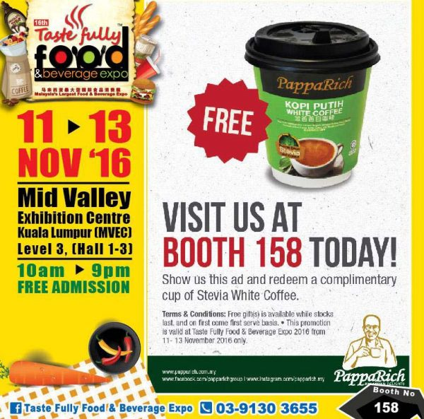 taste fully food and beverage expo mid valley kl november 2016 papparich