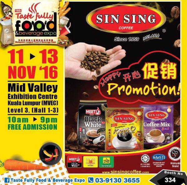 taste fully food and beverage expo mid valley kl november 2016 sin sing coffee