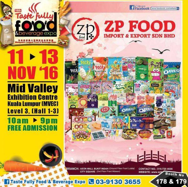 taste fully food and beverage expo mid valley kl november 2016 zp food