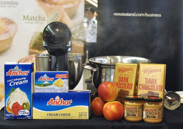 village grocer chef may foo cheese tarts using new zealand products