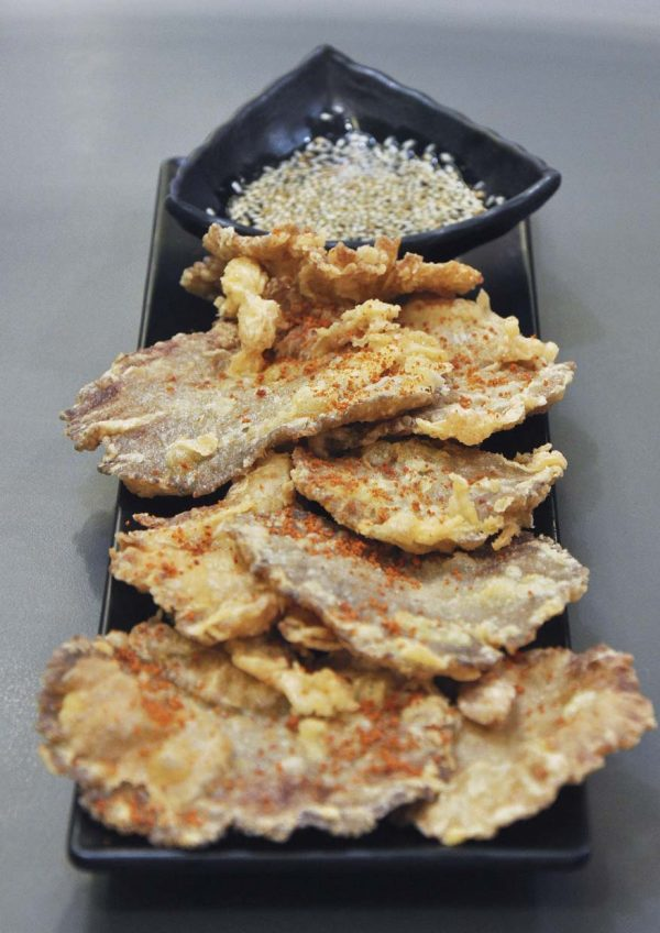 dubuyo korean halal restaurant golden beoseot fried mushroom