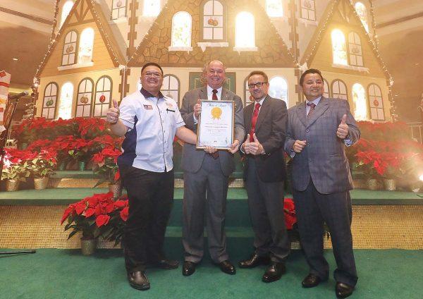 grand millennium kl christmas 2016 biggest advent calendar house malaysia book of records