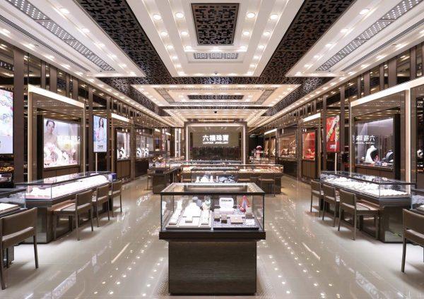 lukfook jewellery pavilion elite kuala lumpur interior