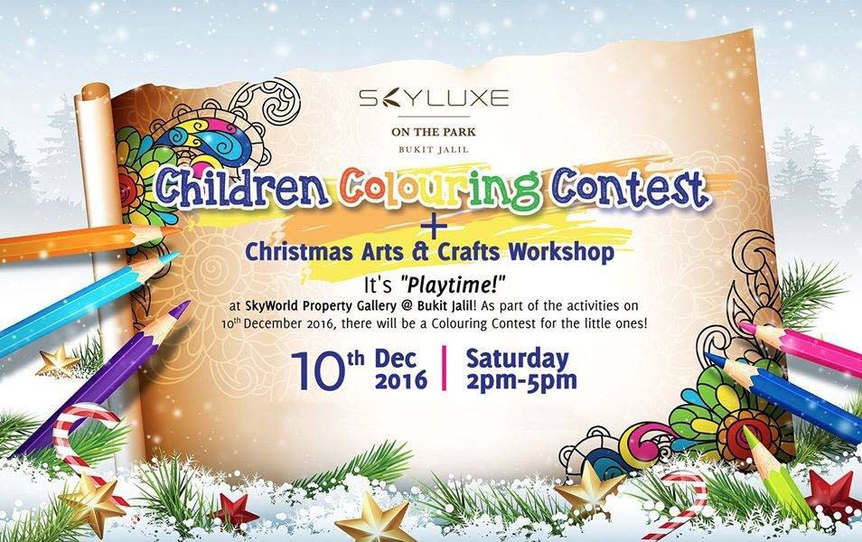 Children Colouring Contest @ SkyLuxe on The Park, Bukit Jalil