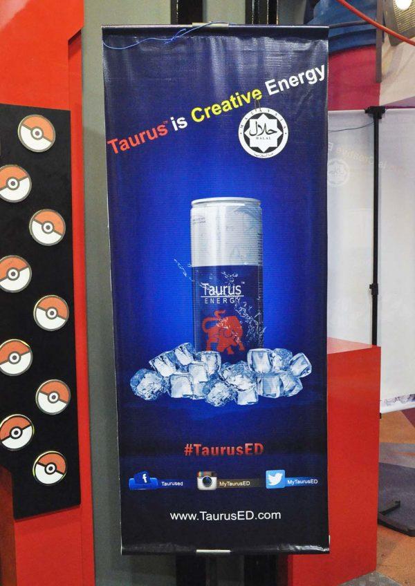 taurus energy drink laser battle game