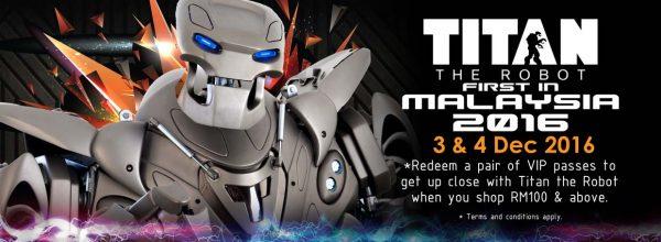 titan the robot first showcase in malaysia toy bank cheras leisuremall