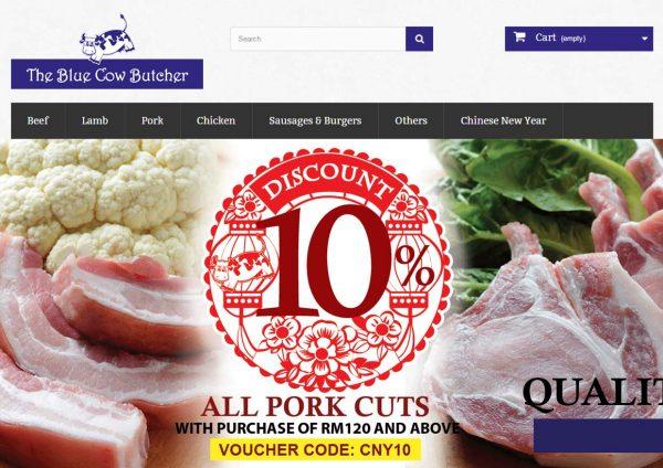 blue cow butcher online ordering meat klang valley website