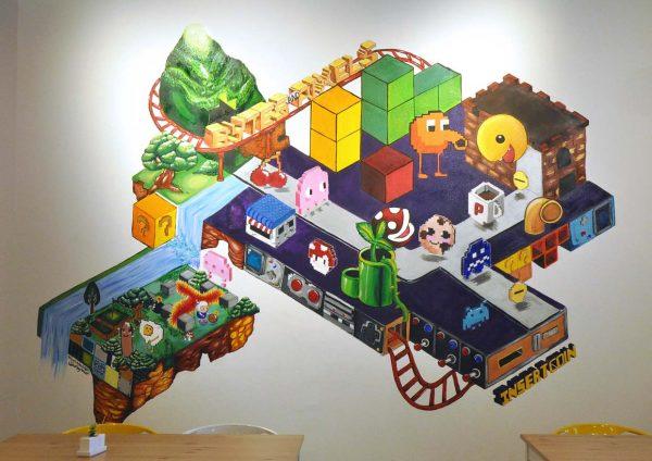 bytes and pixels bandar sunway mural