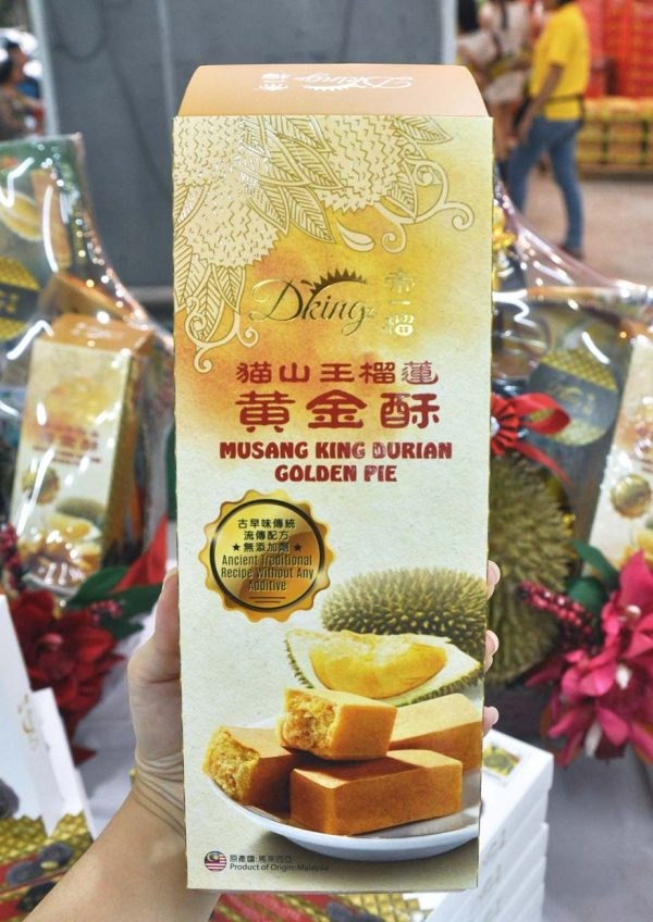 dking cny durian goodies hamper musang king golden pie