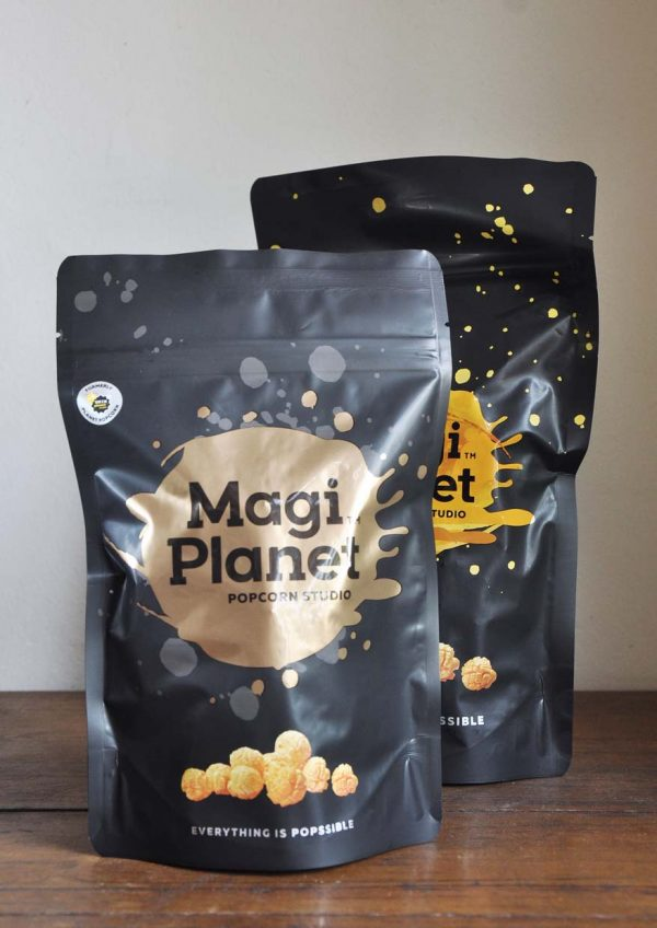 magi planet popcorn packaging