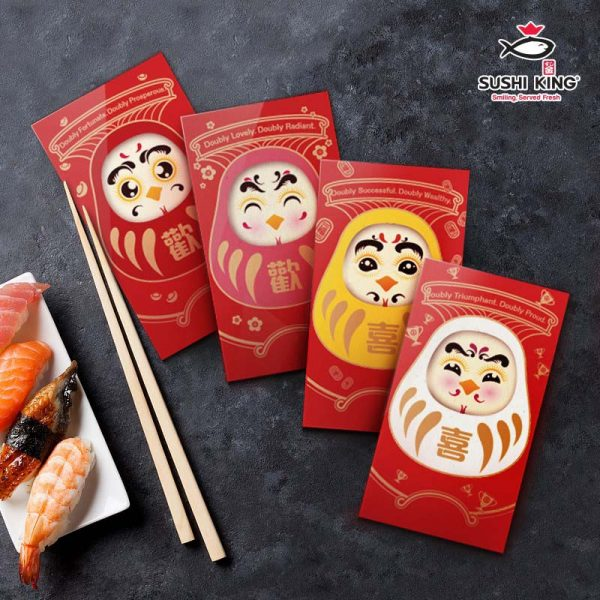 sushi king japanese restaurant chinese new year daruma ang pow