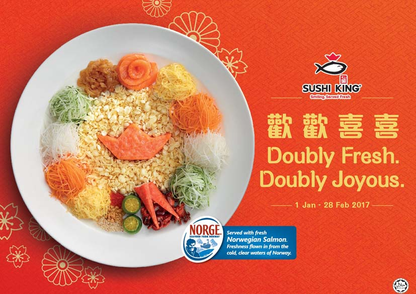 Doubly Fresh, Doubly Joyous Chinese New Year @ Sushi King Malaysia