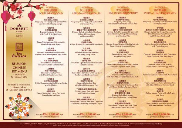 the emperor chinese restaurant dorsett grand subang cny menu