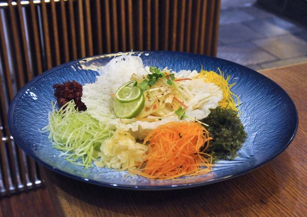 xenri japanese cuisine old klang road cny vegetarian yee sang