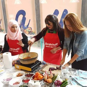 chef siti mastura baking instructor monspacemall demo
