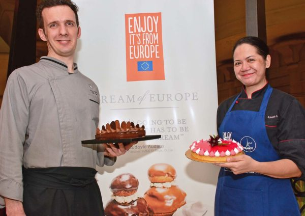 cream of europe chef frederic oger and chef rahina salleh cniel