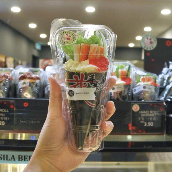 empire sushi japanese kiosk avenue k kuala lumpur temaki