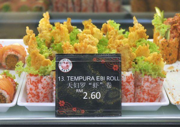 empire sushi japanese kiosk avenue k kuala lumpur tempura ebi roll