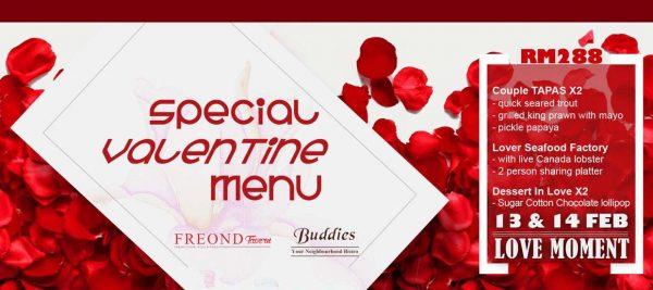 freond tavern setiawalk puchong valentines day promotion