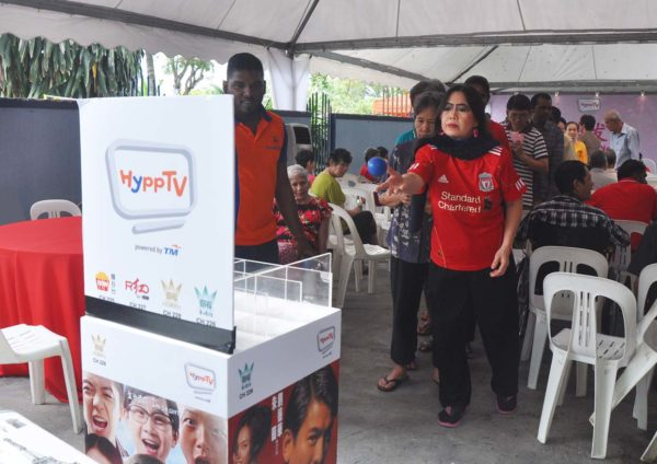 hypptv chinese new year csr pj caring home game booth