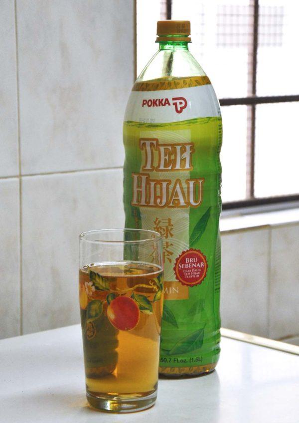 pokka jasmine green tea bottle