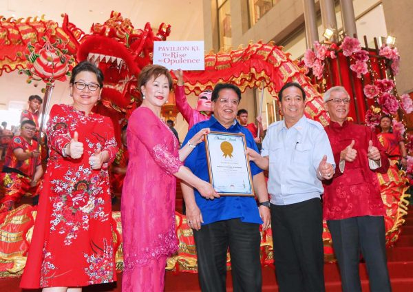 rise to opulence chinese new year pavilion kl malaysia's book of records