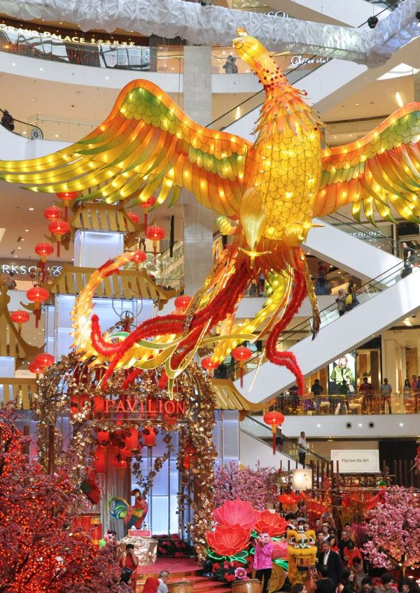 rise to opulence chinese new year pavilion kl malaysia largest phoenix replica