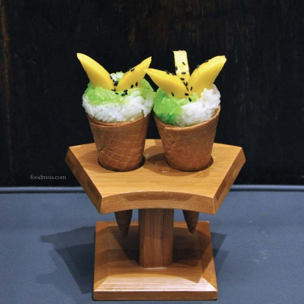sanoook thai japanese fusion pavilion elite kuala lumpur mango sticky rice