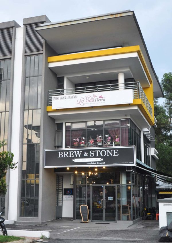 brew and stone kota damansara exterior building